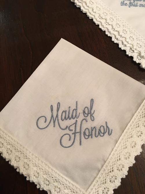 Embroidery Gift Maid Of Honor