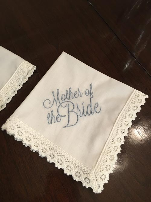 Embroidery Gift Mother Of The Bride